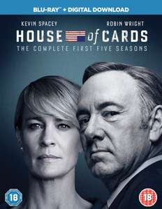 House of Cards Season 1-5 auf Blu-ray (Kevin Spacey-Box)