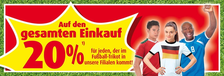 [Roller] 20% auf den kompletten Einkauf, wenn man mit einem Fußball-Trikot in die Filiale kommt