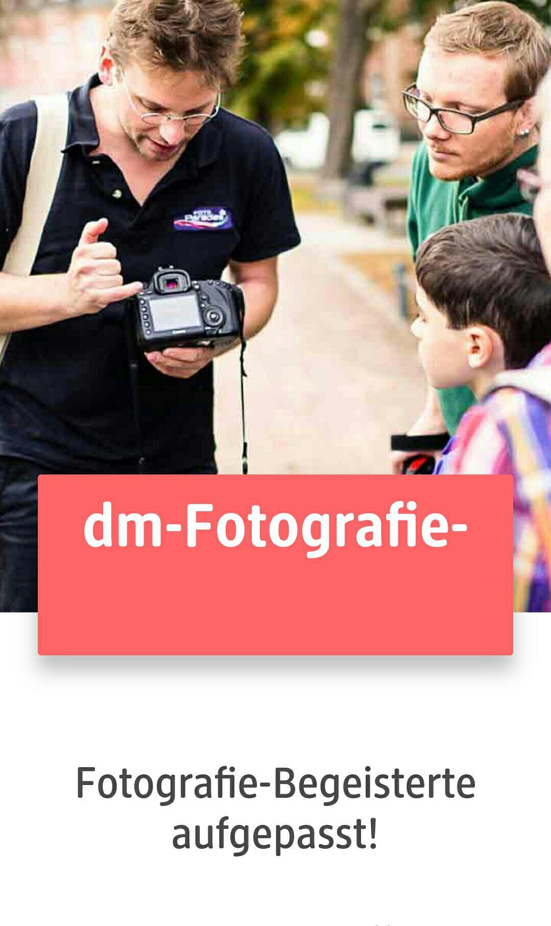 Kostenloser Fotokurs von DM