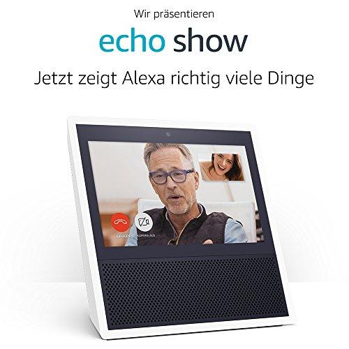 Echo Show, Zertifiziert und generalüberholt - Weiß o. Schwarz, 40 % unter Neupreis [Amazon]