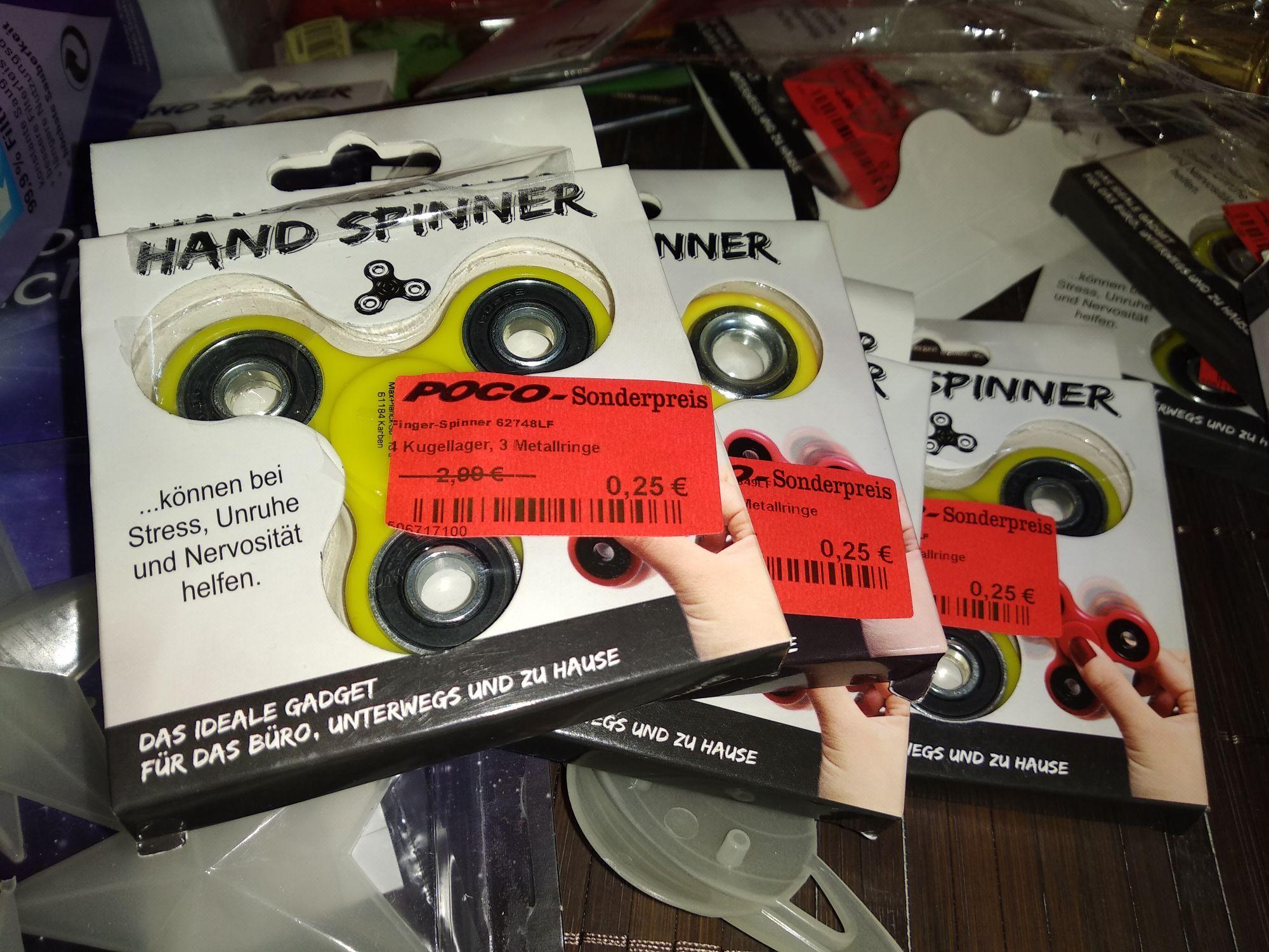 (LOKAL Kiel/Raisdorf) Fidget Spinner mit 4 Kugellagern bei Poco für 25 Cent