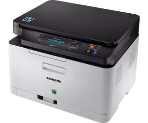 Multifunktions-Farblaserdrucker Samsung Xpress SL-C480W (Drucken, Scannen, Kopieren, USB 2.0, LAN, WLAN, WiFi Direct, Cloud Print, AirPrint, NFC)