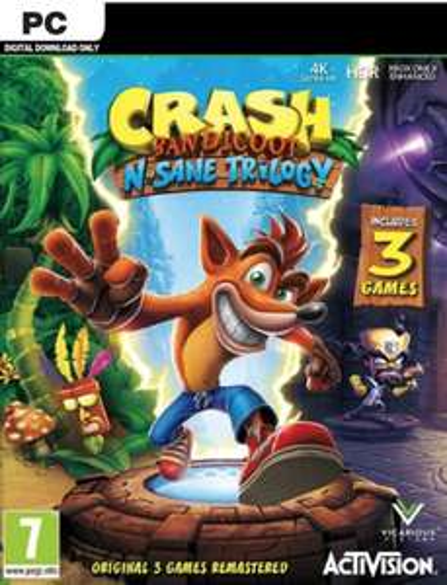 Crash Bandicoot N. Sane Trilogy (Steam) für 19,28€ (CDKeys)