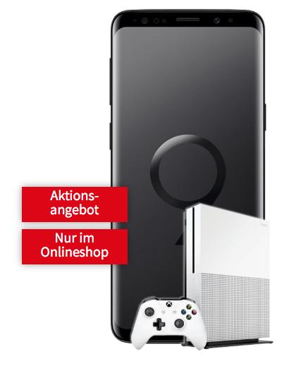 Vodafone Comfort Allnet Aktion (Telefon-Flat & 2 GB Internet) durch Verkauf von SAMSUNG Galaxy S9 Dual-SIM & Xbox One S 500 GB für effektiv 5,49€ monatlich