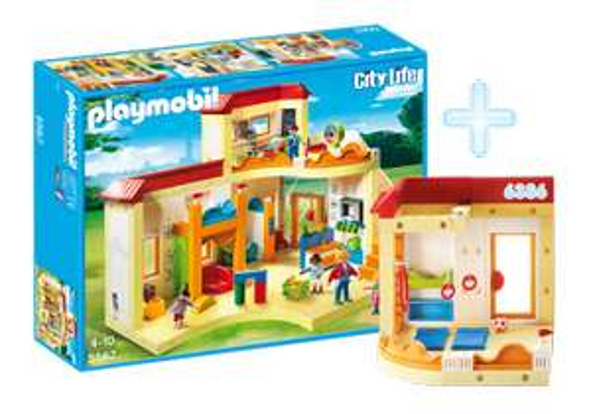 Playmobil Bundle Kita Sonnenschein und Turnhalle