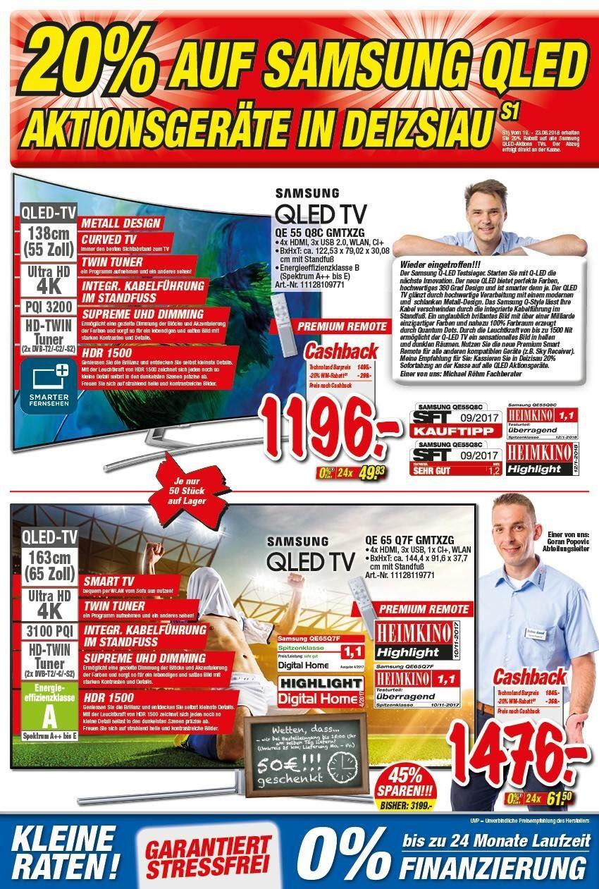 Samsung QE65Q7F für 1476,00€ Lokal Deizisau (Raum Stuttgart)