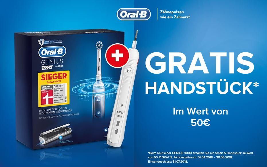 Beim Kauf einer Oral-B 9000er Serie - Handstück im Wert von 50 € Gratis