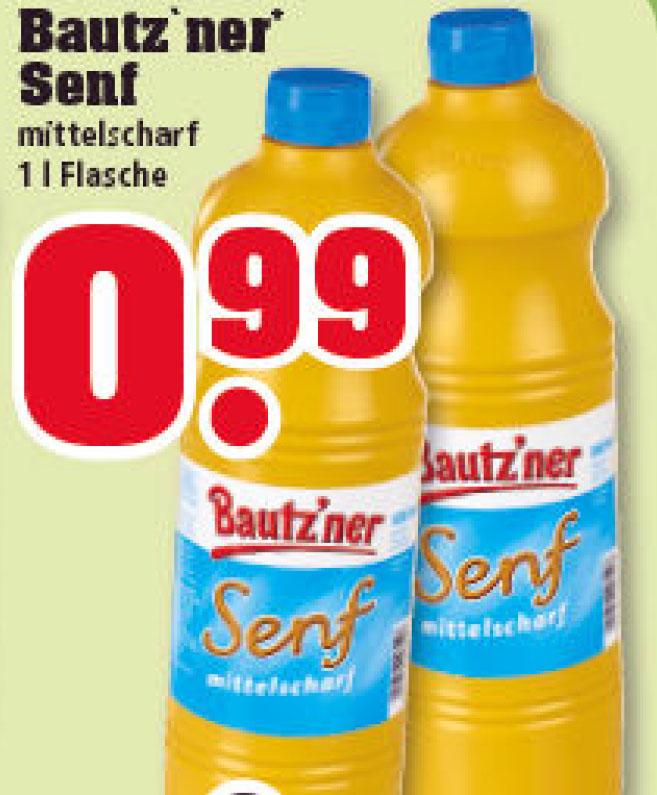 (trinkgut) 1 kg Bautz'ner Senf für 0,99€