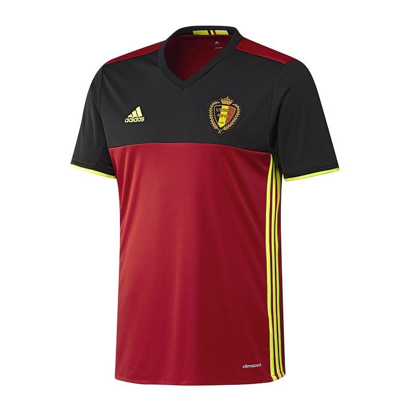 Fußballtrikot Belgien 2016 Replica Heim Kinder rot/schwarz ADIDAS @decathlon