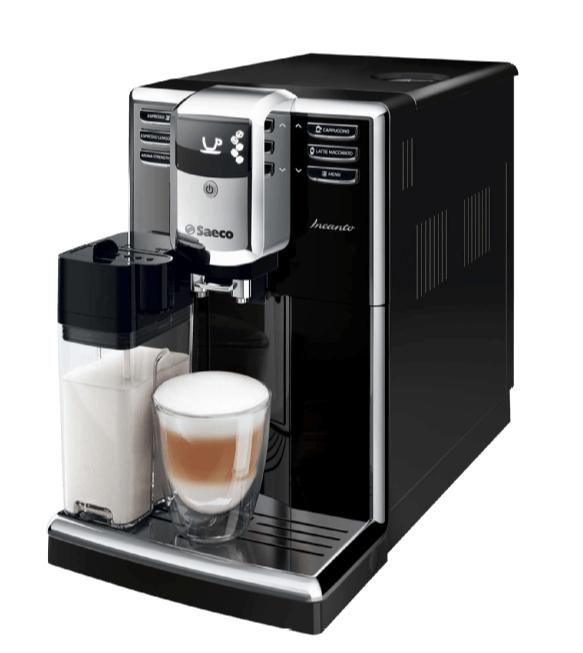 Saeco Kaffeevollautomat HD 8916/01, 1.8 Liter Wassertank, 15 bar, Keramikmahlwerk, Schwarz/Edelstahl