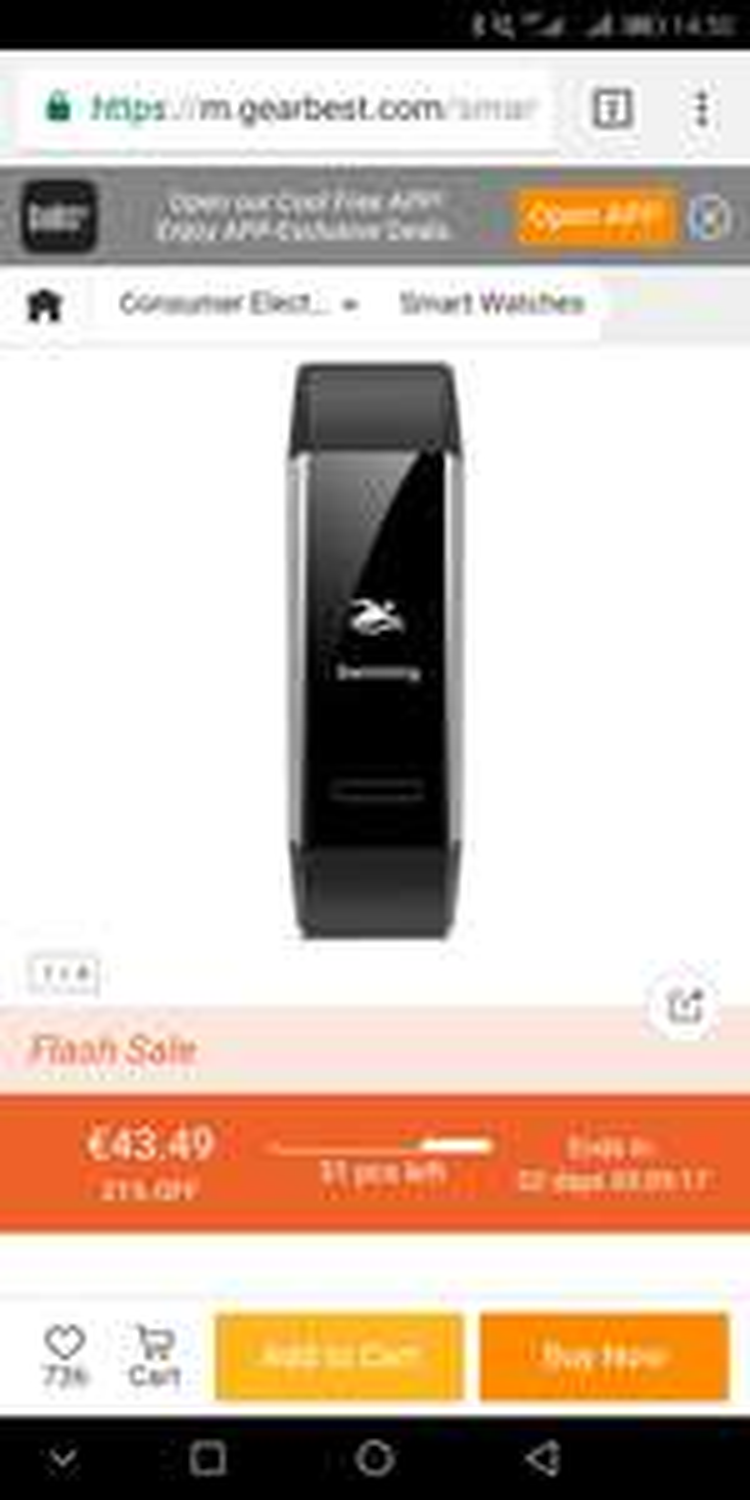 Huawei Band 2 Pro GPS bei Gearbest