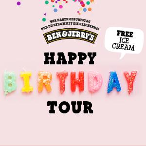 Ben & Jerry's Happy Birthday Tour mit gratis Eis