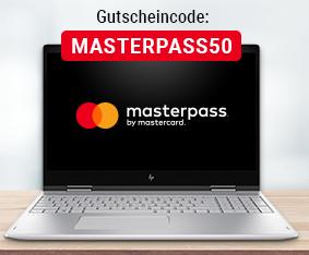 50€ Rabatt auf Notebooks ab 300€ bei Notebooksbilliger.de mit Zahlung per Masterpass