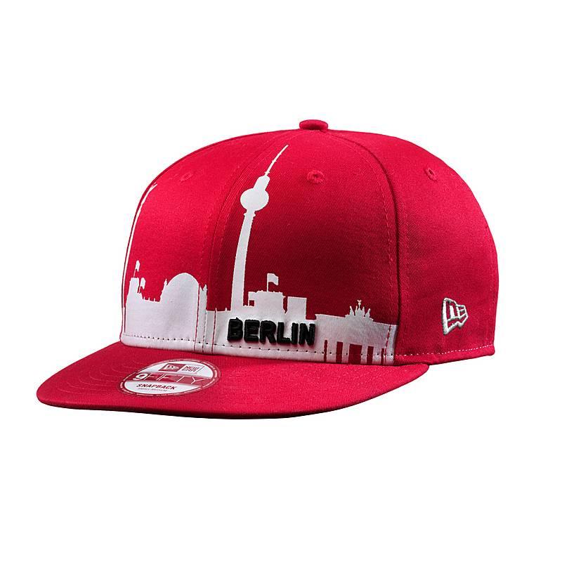 Berlin Basecap -  New Era 9fifty Berlin Skyline - Cap rot/weiß