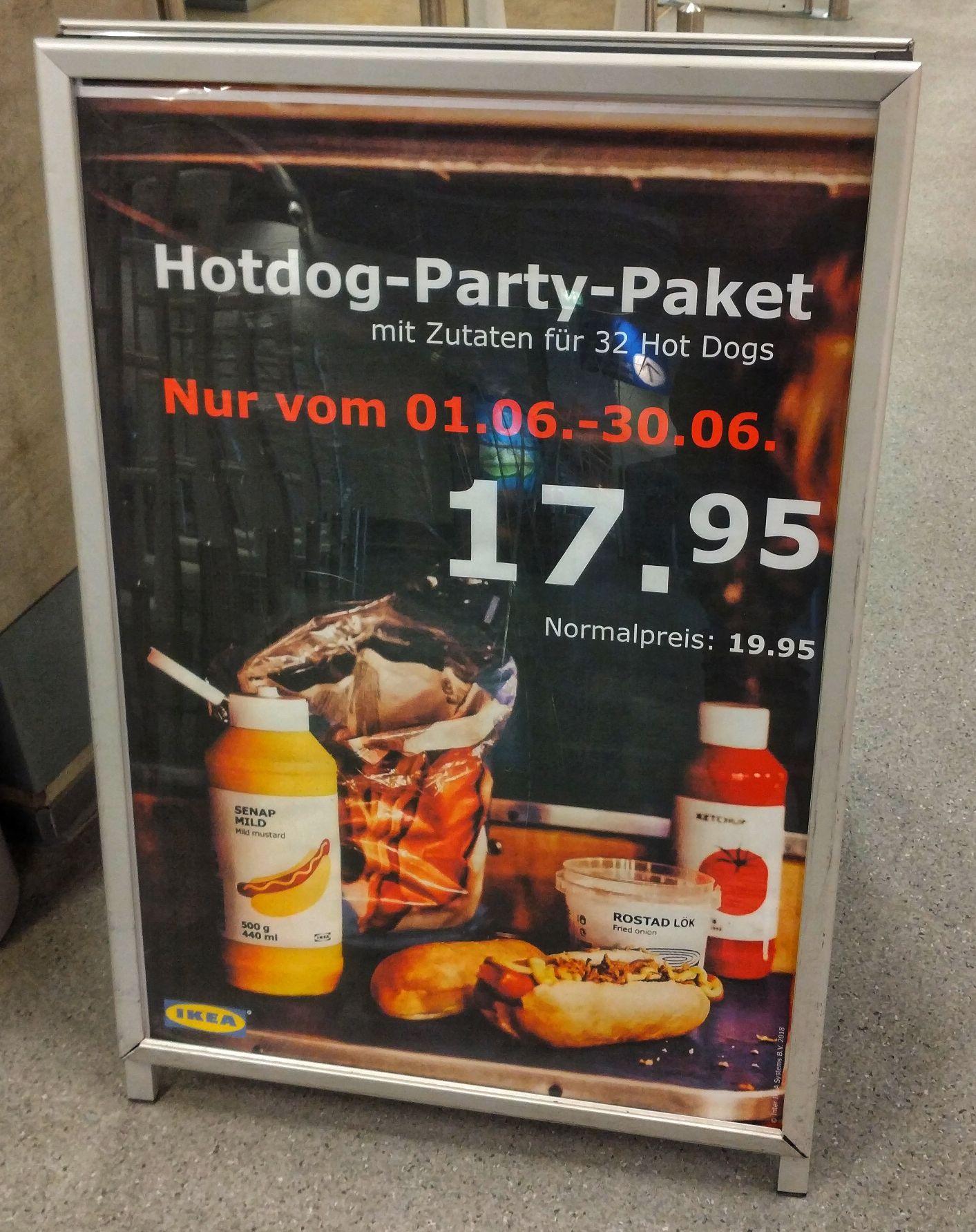 [Lokal/ Rostock] Ikea Hotdog-Party-Paket