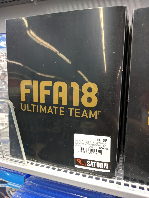 [lokal Saturn Fürth] XBox / PS4 - FIFA 18 Ultimate Steelbook - lenticular / ohne Spiel