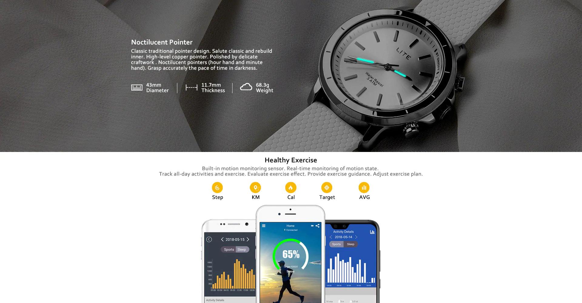 Zeblaze VIBE LITE Smart Watch Schwarz oder Silber