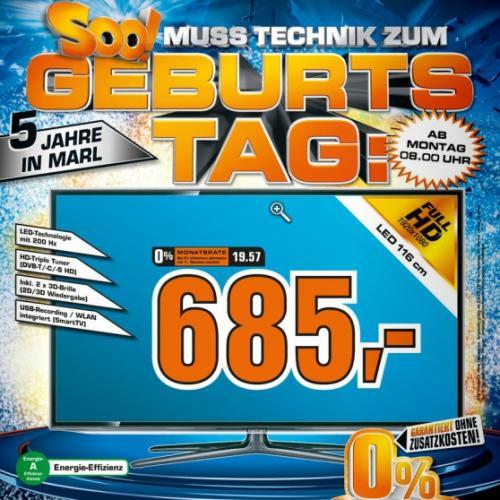 [LOKAL Saturn Marl] 5 Jahre Geburtstag z. B. 3D-LED-TV Samsung UE46ES6300, uvm.
