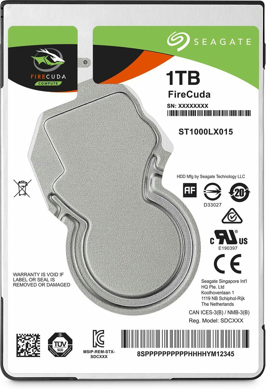 """Interne Hybrid Festplatte 2.5"""" SSHD Seagate FireCuda (Gebraucht-Wie neu) - 1 TB mit 8 GB SSD Cache (Amazon)"""