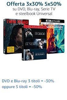 50% Rabatt auf je 5 4k-UHD-Blu-Rays u.a. Jurassic Park, Spiderman, Gladiator [amazon.it]