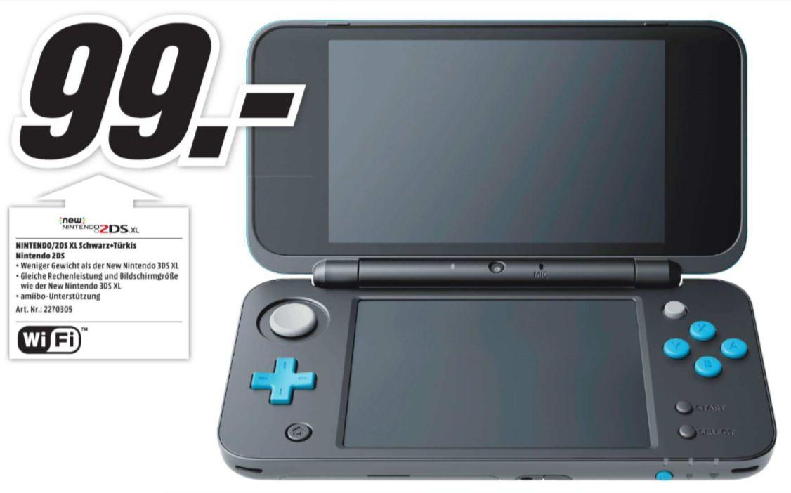 [Regional Mediamarkt Main-Taunus-Zentrum] Nintendo New 2DS XL schwarz-türkis für 99,-€