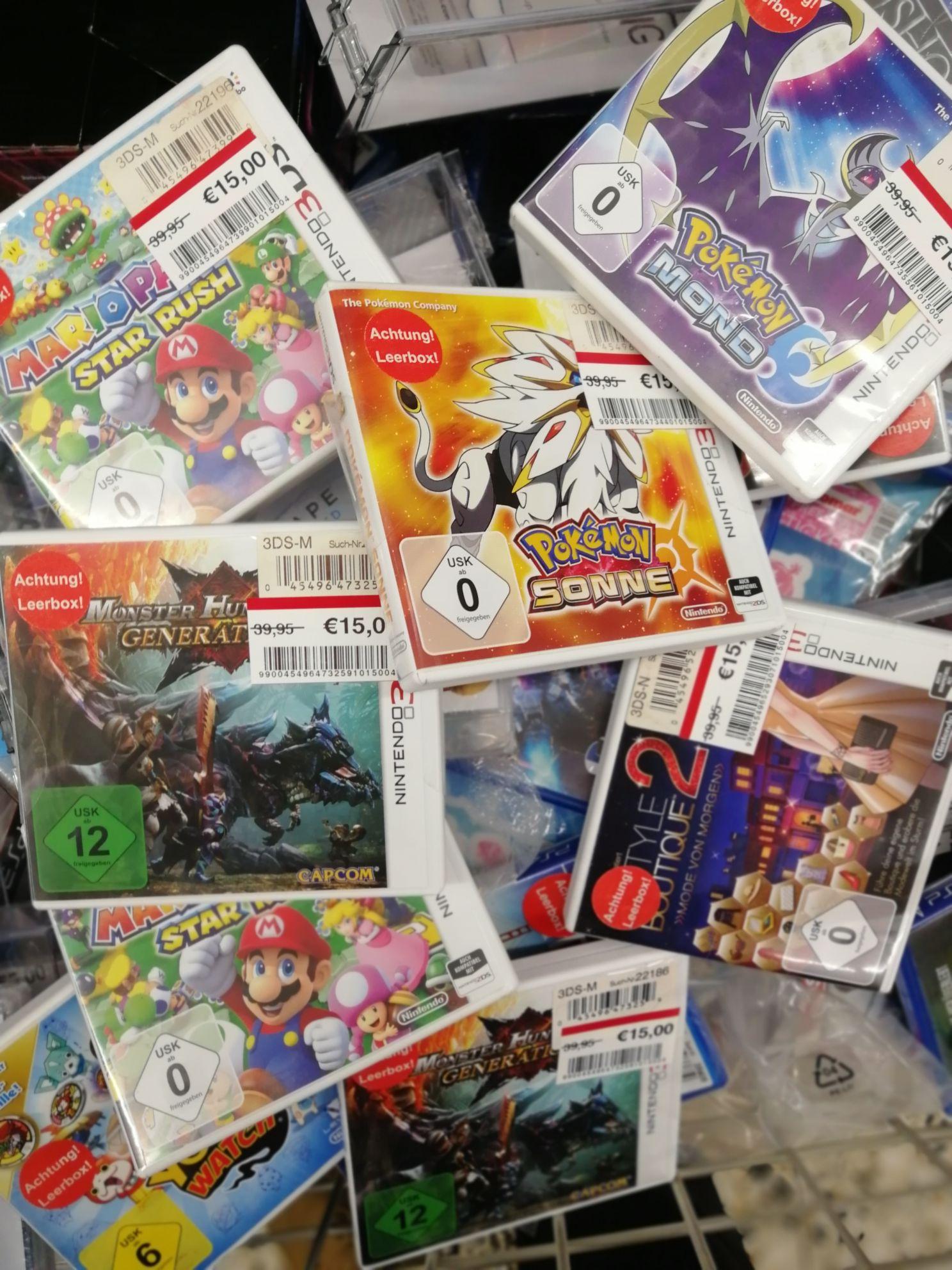 [Lokal Real Gelsenkirchen] Nintendo 3DS Titel Reduziert u.a Pokemon Sonne/Mond, Star Rush