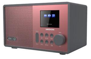 """MEDION E85059 MD 87559 Wireless LAN WLAN Internet Radio 2,4""""/6,1cm Display rot"""