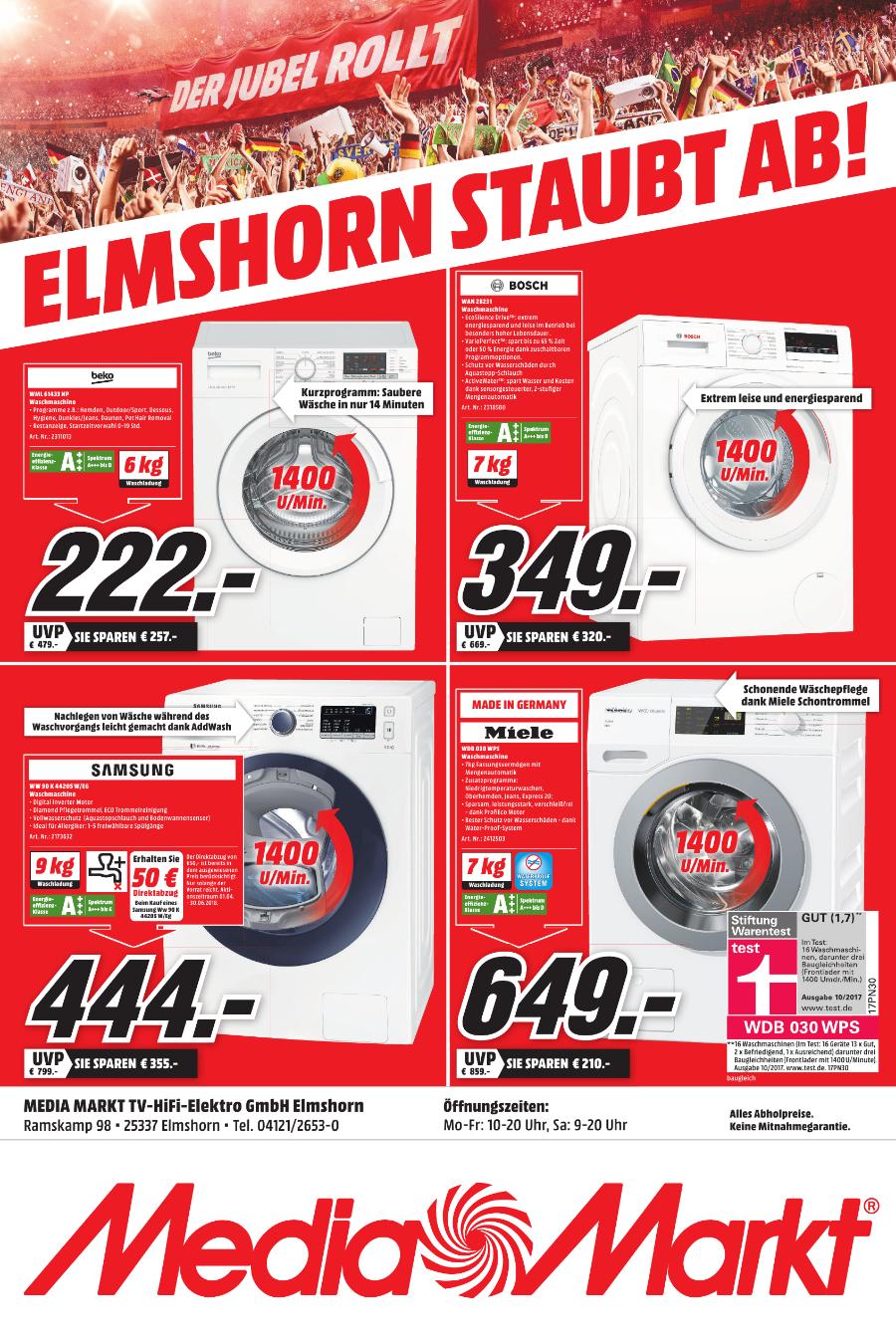 (Lokal MM Elmshorn) Miele WDB 030 WPS Waschmaschine