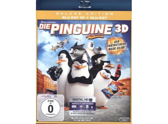 Die Pinguine aus Madagascar 3D Deluxe Edition + BluRay + UV Copy [Dodax]