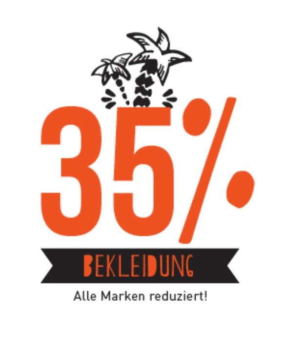35% auf Bekleidung - Alle Marken + kostenloser Versand und Rückversand