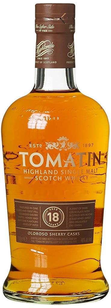 Tomatin 18 Jahre Sherry Cask für alle denen Jack Daniels zu wenig ist