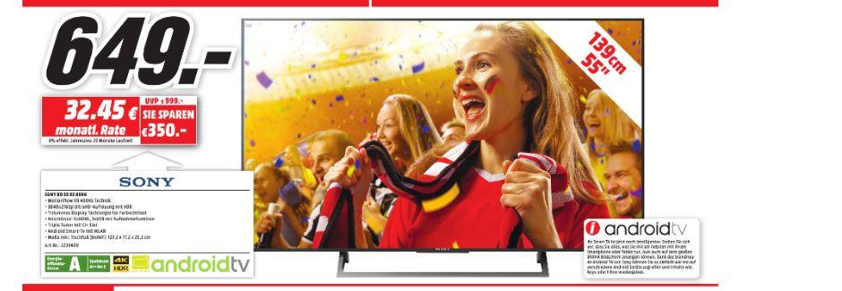 MediaMarkt Dortmund Oespel Sony 55XE8096 Android UHD TV HDR