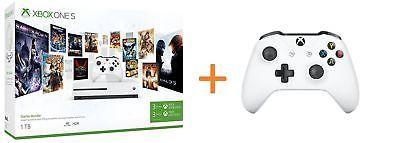 Xbox One S 1TB Starter Bundle +2ter Controller + Spiel nach Wahl (1aus5) [ebay Saturn]