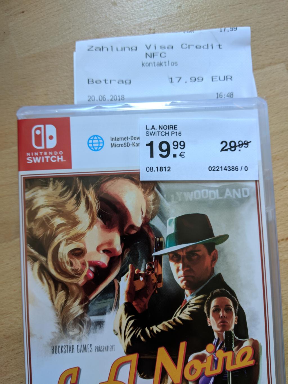 [LOKAL Müller - bundesweit?] L.A. Noire für Nintendo Switch