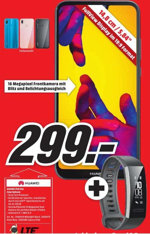 [ lokal Bayern ] HUAWEI P20 Lite 64 GB + Band 2 Pro für 299€ @ Media Markt