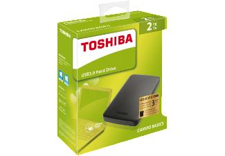 TOSHIBA 2 TB Canvio Basics, Externe Festplatte, 2.5 Zoll für 55,-€ [Mediamarkt]