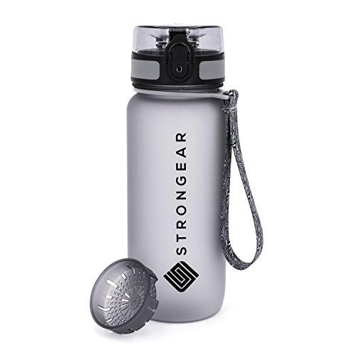 Premium Sport-Wasserflasche mit Fruchtsieb 650ml