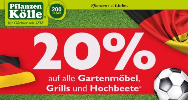 20% auf Gartenmöbel, Hochbeete und Grills*