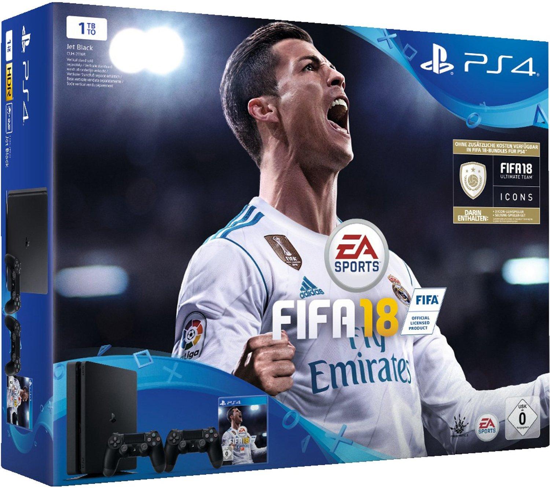 Playstation 4 1TB mit 2 Controllern und FIFA 18 für 288€ (Media Markt)