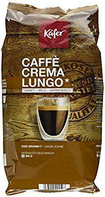 (Amazon Prime) Käfer Caffè Crema u. Espresso Forte, ganze Bohne 1Kg (mit SparAbo 15% für 6,79€)