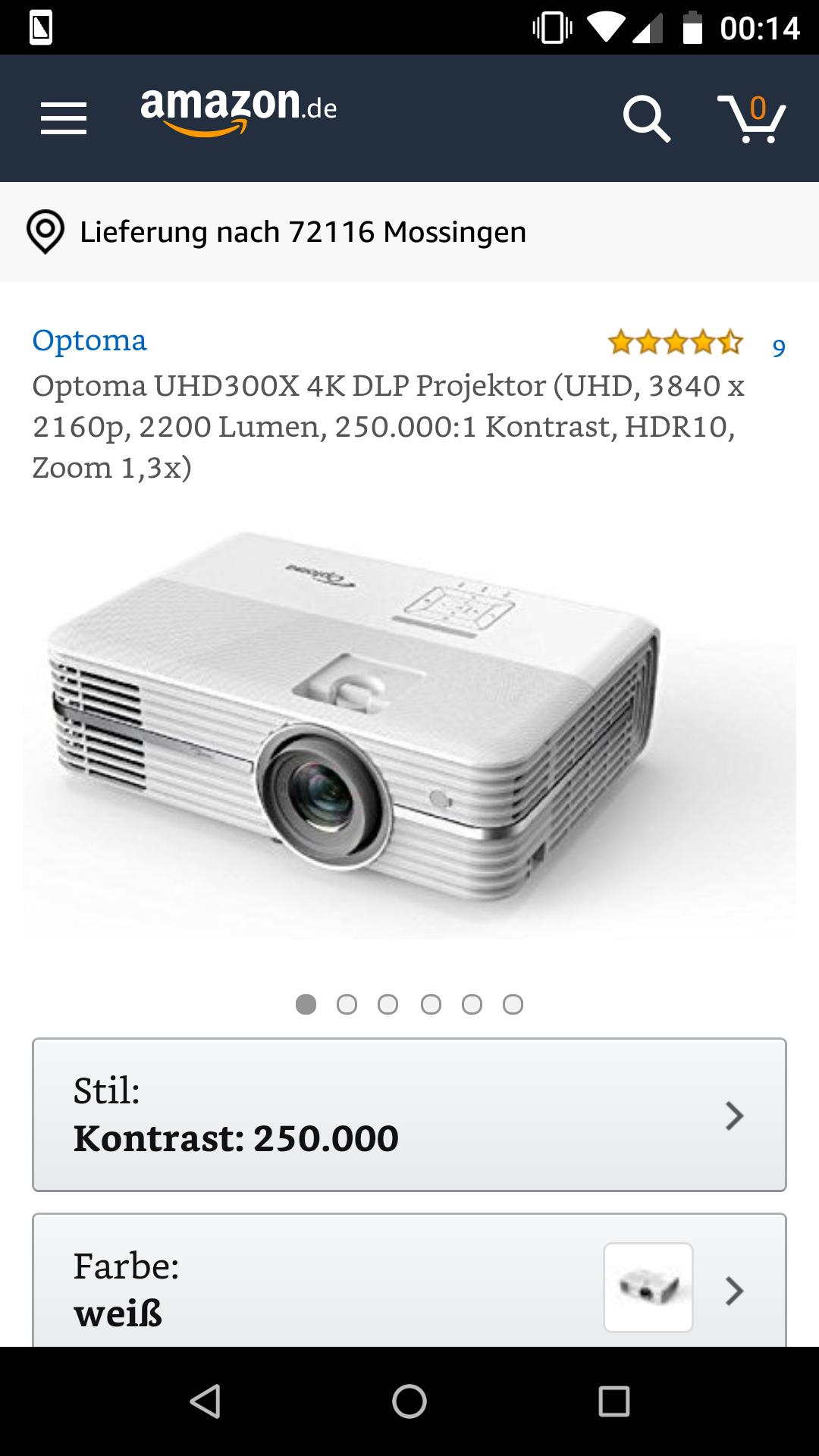 Amazon: Optoma UHD300X 4K DLP Beamer im Angebot für 899€