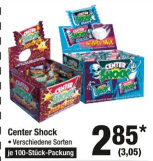Center Shock, 100 Stück Karton, verschiedene Sorten (05.07. - 11.07.) [Metro]