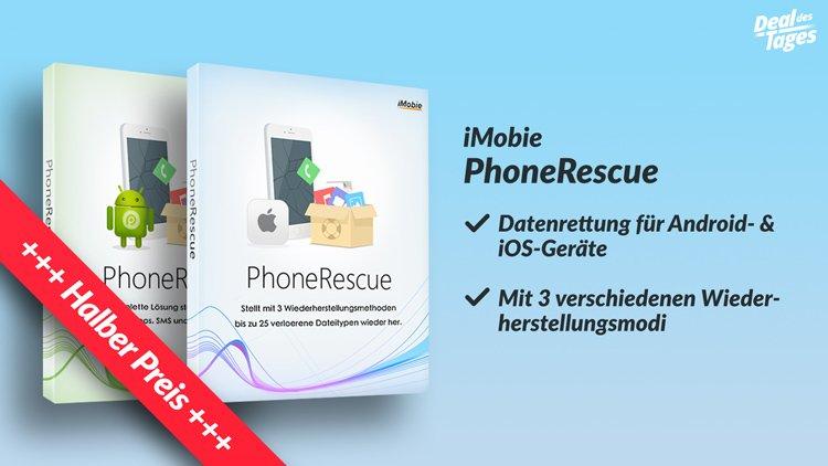 PhoneRescue zum halben Preis - verlorene iPhone Daten wiederherstellen