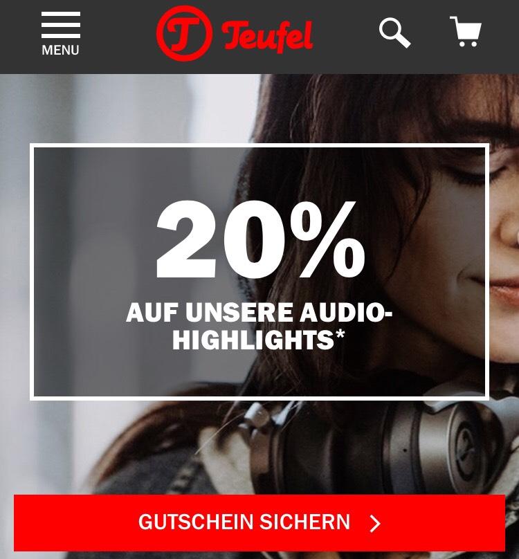 """Teufel 20% auf alles?! (Gutscheinfehler?) z.B. """"DIE DUNKLE MACHT SYSTEM 4 THX"""" für 639,99€"""