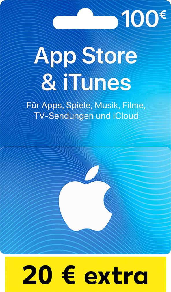 100 € iTunes Geschenkkarte + 20 € Extra-Guthaben für 100 € @ Kaufland ab 28.06.