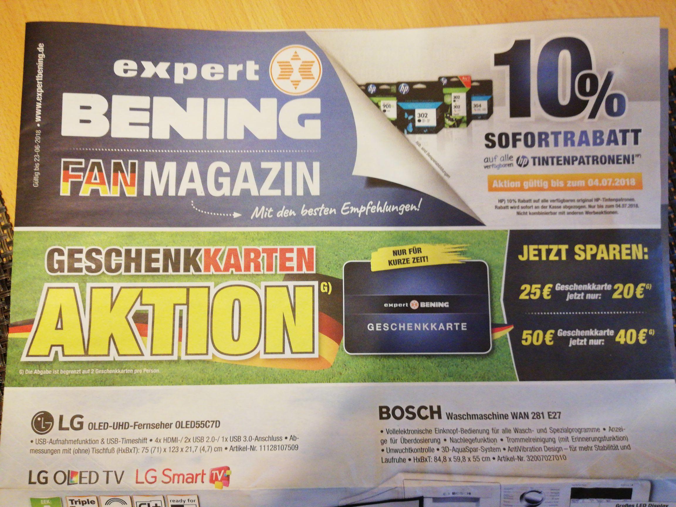 (Lokal Osnabrück?) Expert Gutscheinkarte 20€ statt 25€// 40€ statt 50€