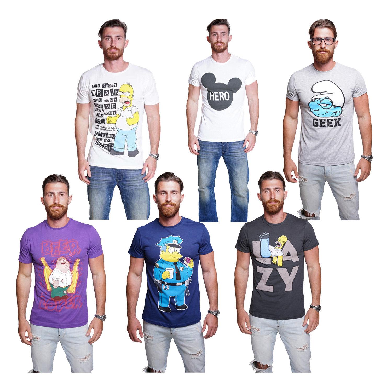 Course Herren T-Shirts mit verschiedenen Motiven (Simpsons / Family Guy / Mickey Mouse / Schlümpfe) ab 9,90 EUR (Ebay)