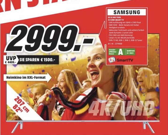 Lokal (MM Elmshorn) 82 Zoll UHD TV Samsung 82mu7009