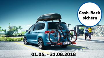 [VW] Cash-Back Aktion auf App Connect, MirrorLink u.a. Software 20€, Navigationsys. 100€, Dachboxen 50€, Fahrradgepäcktrager 60€ (1.5. – 31.8.18)