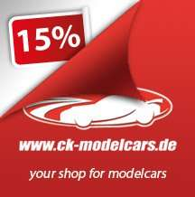 CK-Modelcars 15% Rabatt bis Sonntag